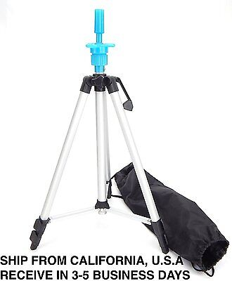 Cosmetology Mannequin Tripod For Training Head Doll Stand Holder W/ Carry Bag