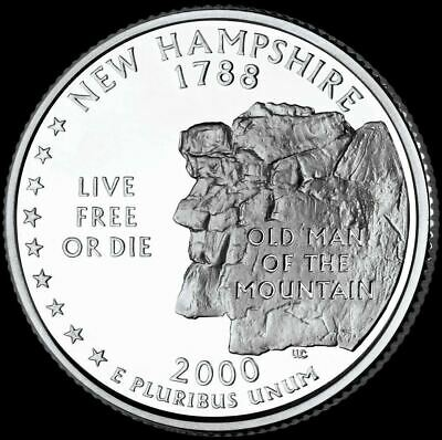 "2000 D New Hampshire State Quarter New U.S. Mint ""Brilliant Uncirculated"""