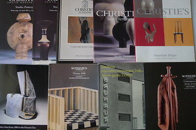 9 International 20th Century Design, Art & Studio Pottery Auction Catalogues