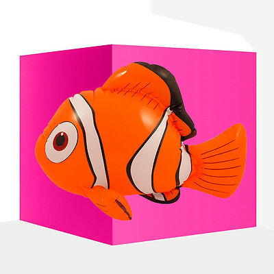 1x Inflatable Nemo Clown Fish 45 cm Blow Up Pool Beach Party Toy / Fancy Dress