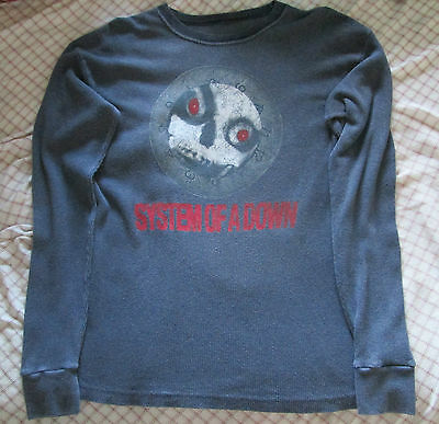 System of a Down Skull Long Sleeve Shirt Size XL Black