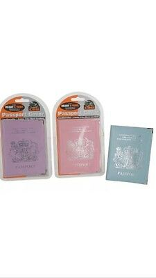 Job Lot Of 30 Passport Covers Leatherette Funky Colours New FREE POSTAGE