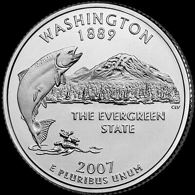 "2007 D Washington State Quarter New U.S. Mint ""Brilliant Uncirculated"""