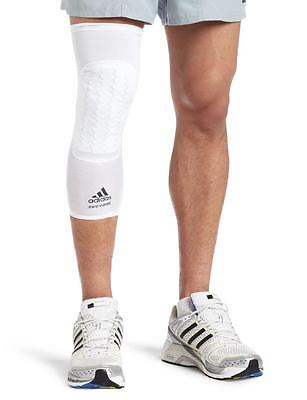 NWT Adidas Men's Techfit Basketball Padded Compression Knee Sleeve - White