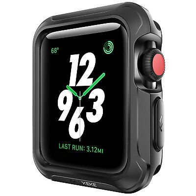 iWatch Apple Watch Rugged Protective Cover Slim Case Bumper Protector 38mm Black