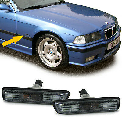 Smoked Side Indicators Repeaters Bmw E36 3 Series Saloon Coupe Estate Compact V3