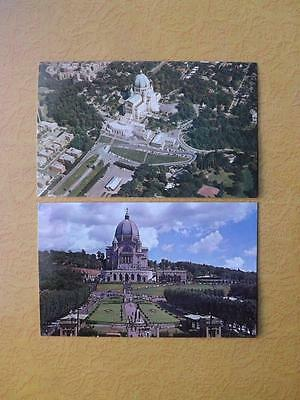 Postcards Lot Of 2 St Joseph Oratory Montreal Quebec Aerial View