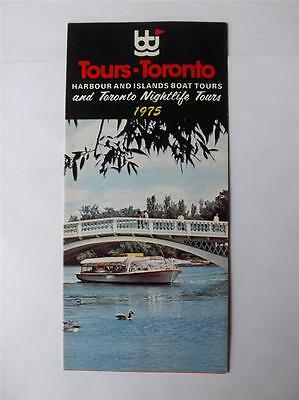 Toronto Harbour Islands Boat And Nightlife Tours Brochure Fold Out Vintage 1975
