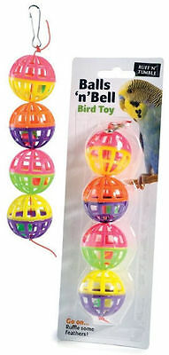 Ruff n Tumble Plastic Budgie Cage Toys for Small Birds Mirror Rings Bells