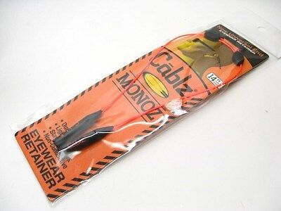 "CABLZ Sunglasses Glasses Holder MONOZ Adjust ZIPZ Orange 14"" Eyewear Retainer!"