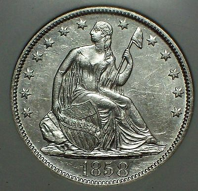 1858 O SILVER Half Dollar NGC SHIPWRECK SS Republic Doubled 1 -WOOD CASE DVD COA