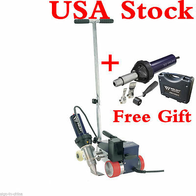 USA Stock!AC220V Weldy Roofer RW3400 Hot Air Welder 40mm Nozzle +GIFT Free GUN