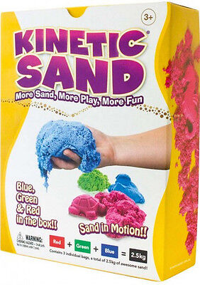 Kinetic Sand™ 2.5KG 3 Colour Kinetic Sand™ Red, Green & Blue