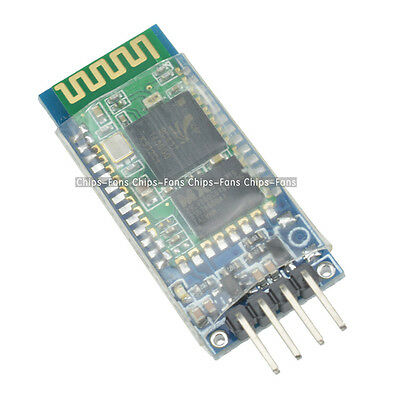 New HC-06 4 Pin Wireless Bluetooth RF Transceiver Module RS232 with Backplane CF