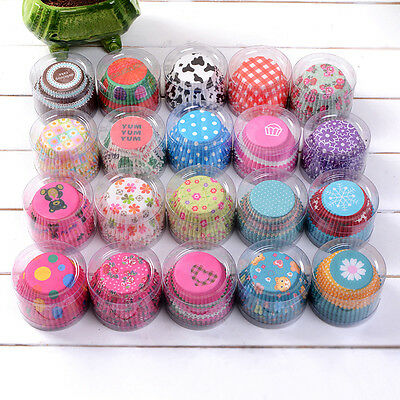 100Pcs Cupcake Liners Paper Cake Baking Cup Muffin Cases Xmas Weeding DIY Tools
