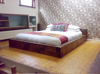Chunky Wood 'The Lo-Pro Bed' Single Double King Super Bed Frame