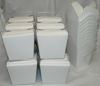 AMK Chinese Take Out Food Boxes: 16 oz. 1 Pint Lot Of 50 - White - food # 450019