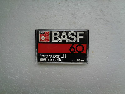 Vintage Audio Cassette BASF Ferro Super LH 60 * Rare From Germany 1977 *