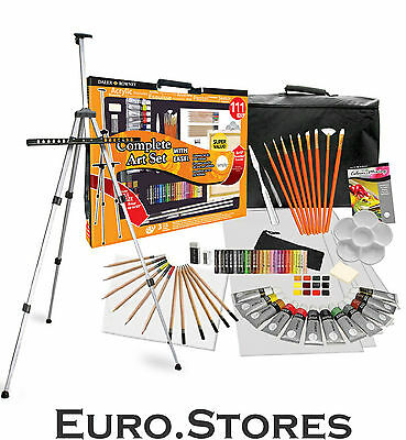 Daler Rowney Simply Complete Art Studio 111 Pieces With Easel  Genuine NEW