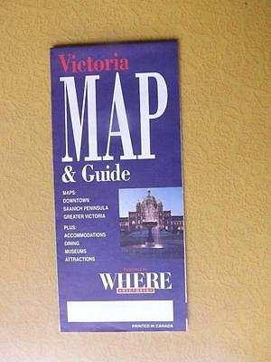 Map & Guide Victoria British Columbia Downtown Saanich Pennisula Dining Museums