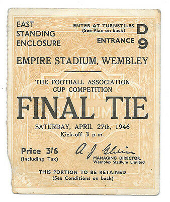 1946 - Charlton Athletic v Derby County, FA Cup Final Match Ticket.