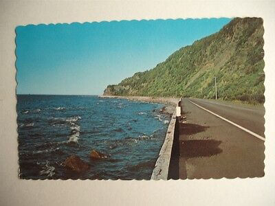 Senic View On Gaspe Peninsula Highway Quebec Canada Vintage Postcard