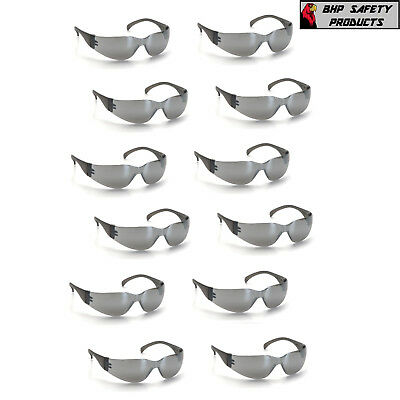 Pyramex Intruder Safety Glasses Silver Mirror Lens Sunglasses S4170S (12 Pair)