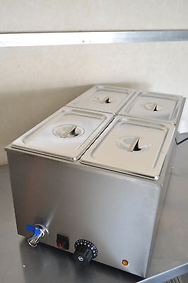 ACE RS 4 PAN WET WELL BAIN MARIE FOOD WARMER HOLDER including PANS & LIDS