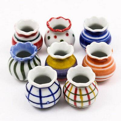 Random Chic Vase 23mm Jar Cup Pattern Dollhouse Miniature Ceramic Pottery A1352