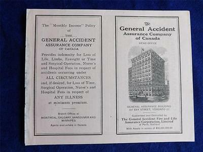 Insurance Application Form Vintage General Accident Assurance Company Canada