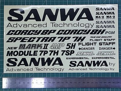 Sanwa remote models Decal sticker pegatina adesivo vintage 27 cm 2nd model RC