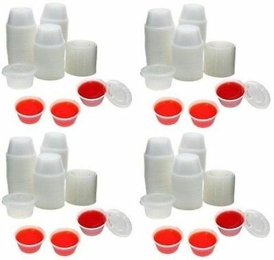 Clear Plastic Chutney Cups & Lids / Sauce Pots /  AVAILABLE IN 2OZ & 4OZ *OFFER*