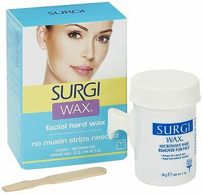 Surgi Wax Complete Hair Removal Kit For Face 1oz.No muslin strips needed