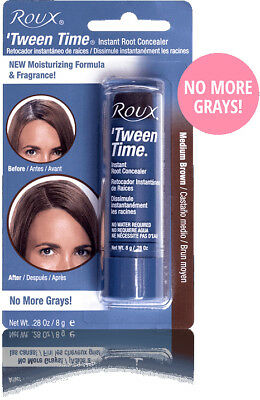 Roux Tween Time Instant Hair Color Crayon Touch Up Stick Medium Brown