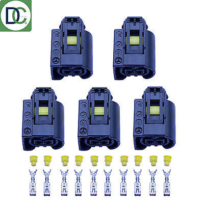 5 x Genuine Diesel Injector Connector Plug for Mercedes Bosch Common Rail