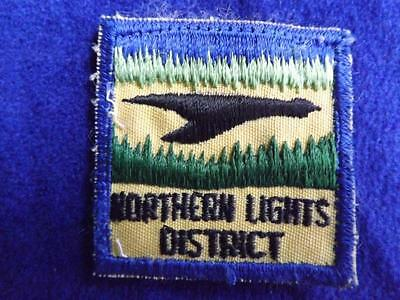 Boy Scouts Canada Northern Lights District Vintage Patch Collector Badge
