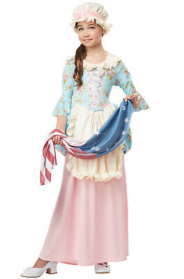 Brand New Betsy Ross Colonial Lady Patriotic Child Costume