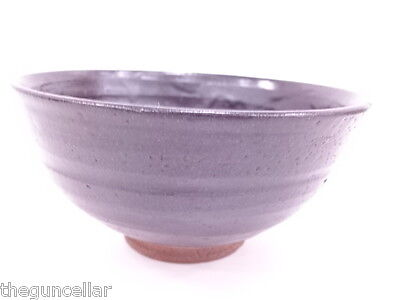 Beautiful Japanese Tea Ceremony, Chawan (Tea Bowl) Black Glaze, Signed By Artist