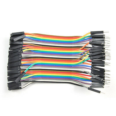 40PCS Dupont Wire Jumper Cables Male to Female 2.54MM For Arduino Breadboard