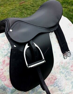 "All purpose saddle leather,quality 12,14,16, 18""fully mounted +saddle cloth"