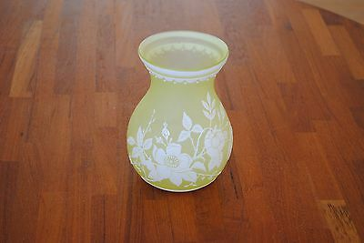 English Cameo Numbered Citron Vase with Scalloped Detail #10