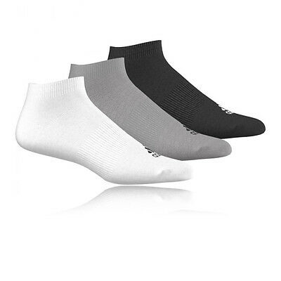 Adidas Performance No Show T Mens Womens Sports Running Anklet Socks 3 Pack