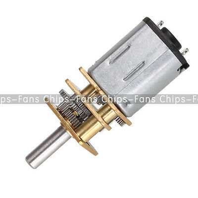 DC 12V 300RPM Micro Speed Reduction Gear Motor With Metal Gearbox Wheel UK