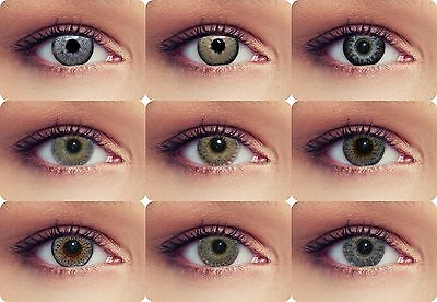 Natural looking grey colored contact lenses with or without powerrange cosplay