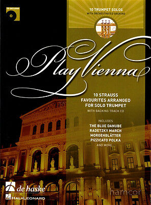 Play Vienna Trumpet 10 Strauss Favourites Sheet Music Book & Backing Track CD