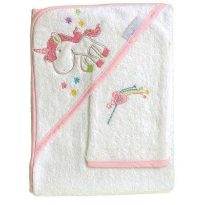 My Baby Little Fairy Hooded Towel and Mitt Set