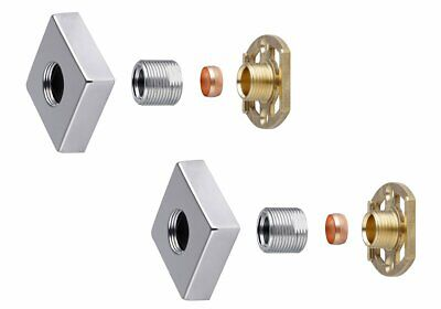 Thermostatic Shower Mixer Bar Valve PUSH FIT Concealed Fixing Wall Plate