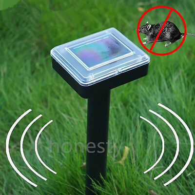 Solar Powered Garden Rodent Mole Rat Mice Pest Repeller Repellent Sonic Waves