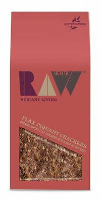 Raw Health Organic Flax Piquant Crackers 90g (Pack of 2)