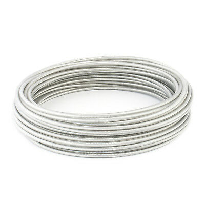 CLEAR PVC COATED WIRE ROPE galvanized steel transparent stranded metal cable new